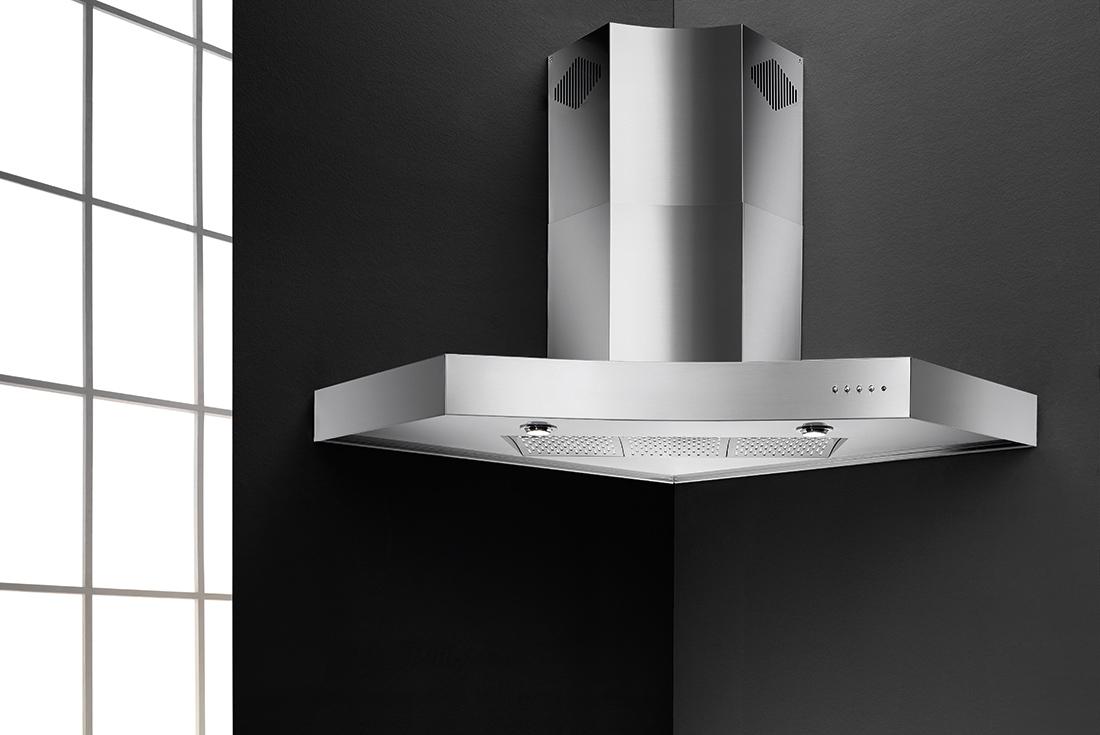 Zeus angolare - Cappe da cucina di alta qualità e dal design raffinato