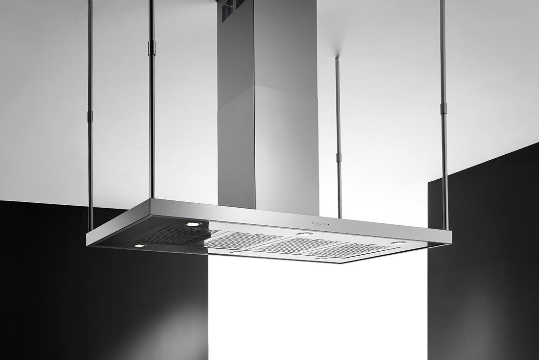 Zeus isola 150 - Cappe da cucina di alta qualità e dal design raffinato